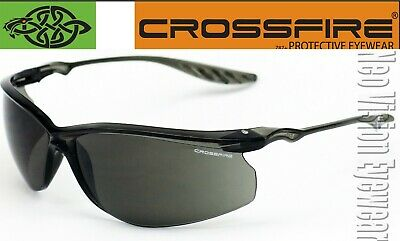 Crossfire 24seven Smokegray Safety Glasses Shooting Lightweight Z87.1