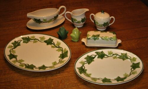 """Nice Lot of 6 Pieces of Vintage Franciscan """"Ivy"""" Pattern"""