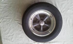 Hot Rod Muscle Car Wheels Rocket Racing Mags 15x4 Pair Pre-Loved Perth Perth City Area Preview