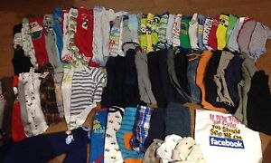 3 mth and 3-6 (63 pieces plus bibs and hats )