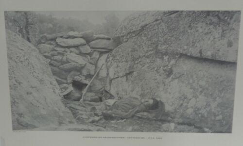Confederate Sharpshooter - Gettysburg Jul 1863  Black/White Lib of Cong 20x121/2