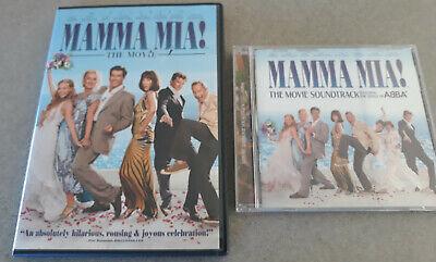 MAMMA MIA! DVD AND CD - THE MOVIE SOUNDTRACK - CD - DVD MOVIE WIDESCREEN