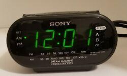 Sony Dream Machine Dual Alarm Clock AM/FM Radio Model ICF-C318 Black