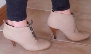 Ladies Lace-Up Ankle Boots Neutral Size 39 Strathfield Strathfield Area Preview