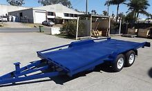 TILTING 15FT 2800KG CAR TRAILER RAILINGS/ELECTRIC BRAKES/RAMPS Gold Coast Region Preview