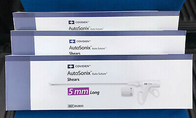 Lot Of 3 Covidien Autosonix Shears - Model 012033 - New In Box