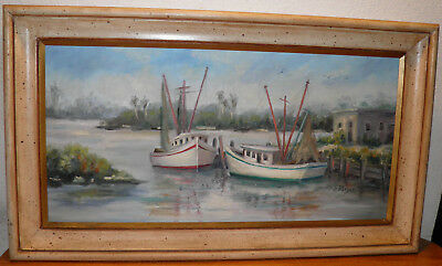 ERNEST FREDERICK MEYER AMERICAN 1863-1952 Late19th or early 20th Docked Boats
