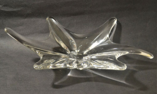 BACCARAT LARGE SIX POINTED STAR FISH SHAPED ART GLASS