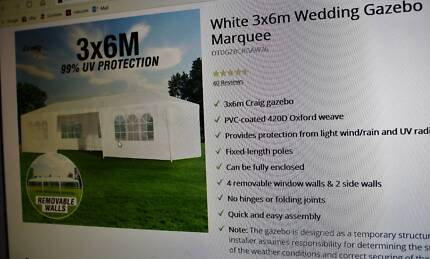 Gazebo Party Marque 6x3 used once want gone