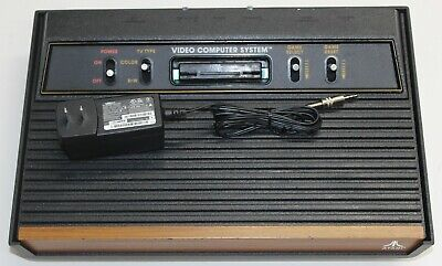 """Atari 2600 Console """"Woody"""" Recapped Reconditioned A/V modded Fully Tested"""