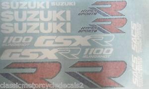SUZUKI GSXR1100 GSXR1100K RESTORATION DECAL SET 1989 BLUE/WHITE