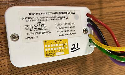 Apollo Xp95a Fire Alarm Mini Priority Switch Monitor Module 55000-830