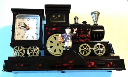 "YOUNG DREAM MUSICAL TRAIN & CLOCK & JEWELRY BOX / 10"" x 3"" x 4"" EVERYTHING WORKS"