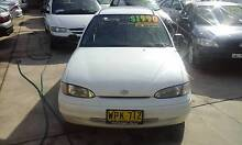 1995 Hyundai Excel GLX AUTO AIR STEER 5 door Hatch Low KM's Rego Granville Parramatta Area Preview