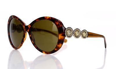 VERSACE Women's Tortoise '4256-B' Round Sunglasses 141371