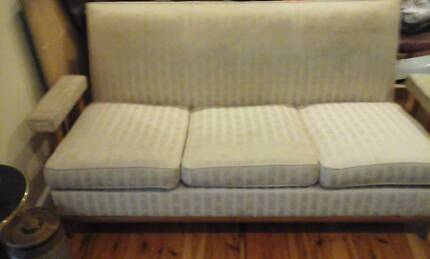1960s re upholstered 3 seater lounge solid built, heavy