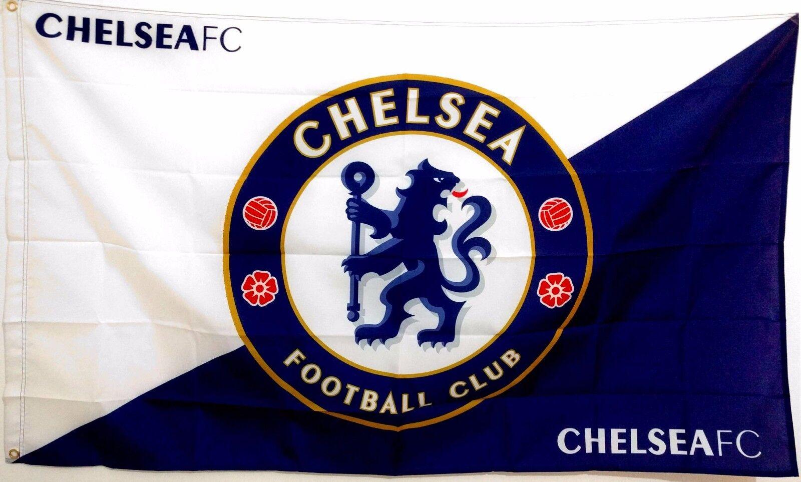 Car Logos With Names >> Chelsea FC Flag banner 3ft x 5ft Football Soccer blues stamford bridge | eBay
