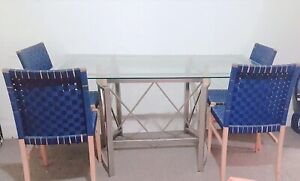 Dining table - Glass with chair