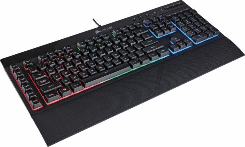 CORSAIR - Refurbished K55 Wired Gaming Membrane Keyboard with RGB Backlighting