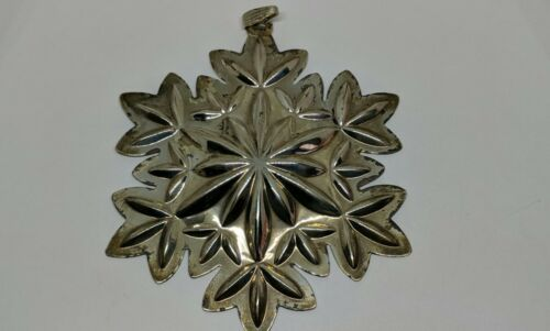 """3.5"""" WATERFORD 50th Anniversary Sterling Silver Snowflake Lismore 2002 Ornament"""