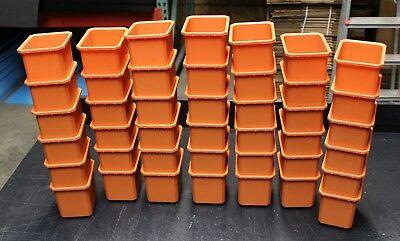 42 Pcs Orange Storage Bins Plastic Small Container Organizer Parts