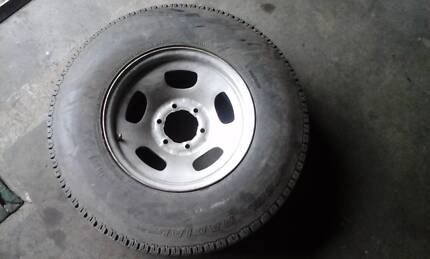 Toyota Land Cruiser 80 series wheel and tyre, Good cond. Oak Flats Shellharbour Area Preview