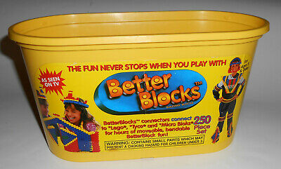 Vintage 1993 BETTER BLOCKS Building Toys Original Package Bucket Prop Girls