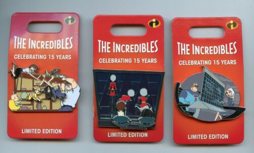 Disney 15th The Incredibles Helen Bob Jack Jack Dash & Violet LE Pin Set