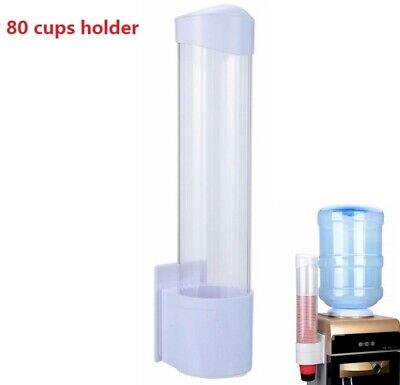 Auto Pull Water Cup Dispenser Wall Mounted Plastic Dispenser for Paper Cups US