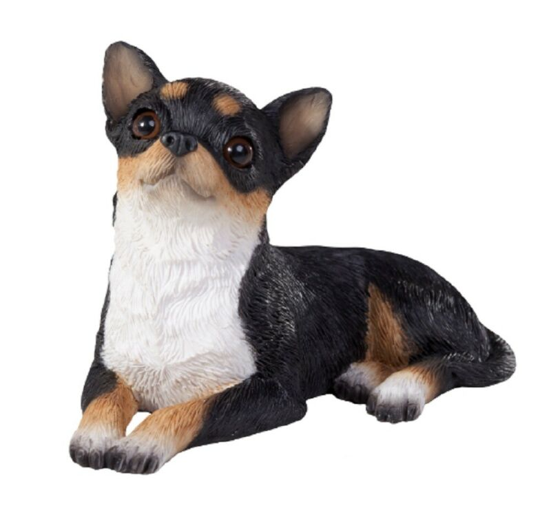 Chihuahua Figurine Hand Painted Tri - Sandicast
