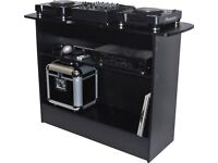 Sefour X10 or XS100 DJ Console / CDJ, Record Player, Decks Stand / Vinyl Storage . Silver / Grey