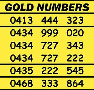 Gold Mobile Phone Numbers - $75 per number Wodonga Wodonga Area Preview