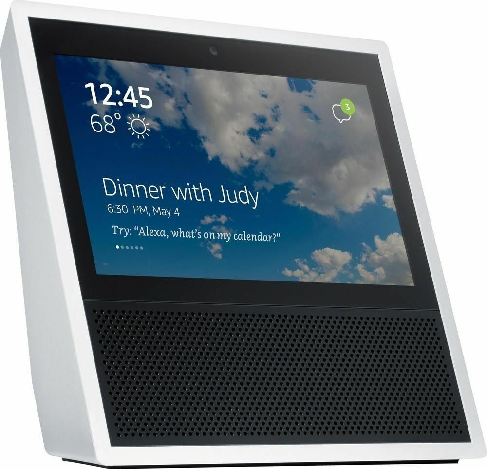 NEW! Amazon Echo Show Alexa Smart Home Control with Video (White)