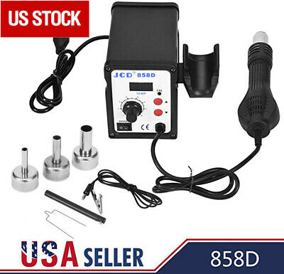 700w Soldering Rework Station Smd Iron Desoldering Hot Air Gun Tool 3 Nozzles