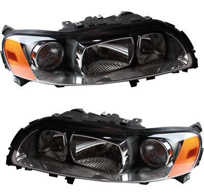 Volvo Headlight - NEW Headlights Headlight Assembly w/Bulb Pair Set for 05 06 07 Volvo V70 XC70