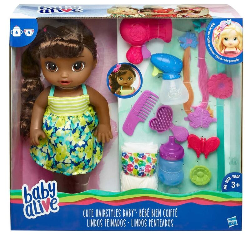 """Baby Alive Cute Hairstyles Baby (African American) 14"""""""