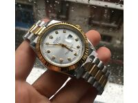 Mens rolex diamond watch, BOX AND PAPERS INCLUDED