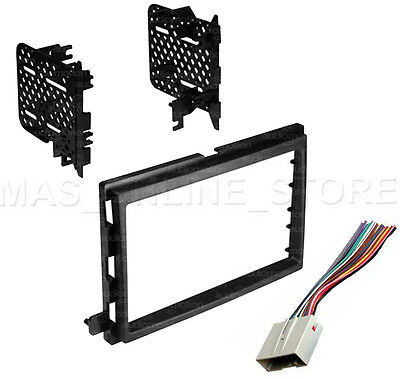 Double Din Stereo Install Dash Kit W  Wire Harness For Ford Lincoln Mercury Cars