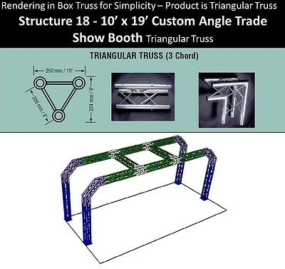 10x19 Custom Angle Triangular Truss Trade Show Booth