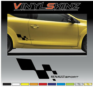 renault sport logo premium decals stickers megane laguna scenic clio f1 fr r32 ebay. Black Bedroom Furniture Sets. Home Design Ideas