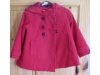 NEXT girls coat - age 4/5