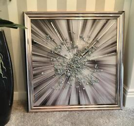 Large Liquid Art Picture 3D stunning wall decor XL RRP £145