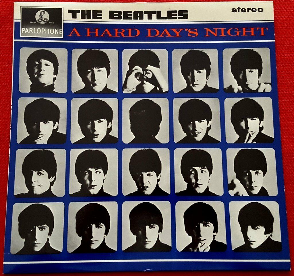 BEATLES - A HARD DAYS NIGHT - STEREO LP
