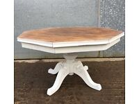 Annie Sloan shabby chic octagon coffee table