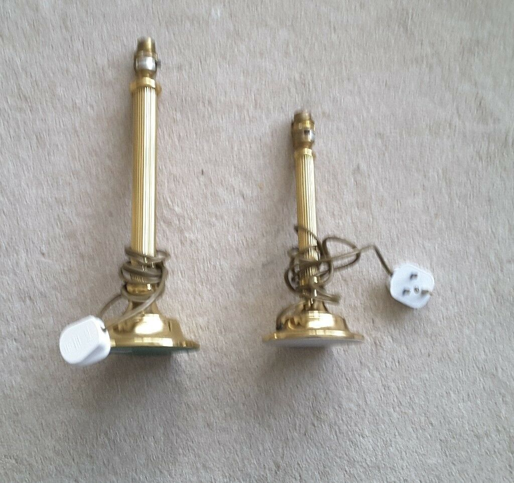 Pair of Quality Electric Candlestick Lamps