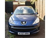 For Sale Peugeot 207 S, 1.3 with full service history & warranted mileage