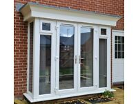 External uPVC Double Glazed French Doors with Side and Bay Panels *Used*