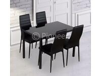 Dinning Table and 4 chairs Compact Space Saving