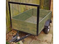 TRAILER. VERY SOUND WITH RECENT FLOOR AND SIDES. DROP DOWN TAILGATE. LIGHTS INCLUDED.