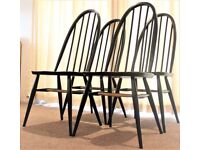 Ercol Windsor Quaker Dining Chairs Mid century 60's